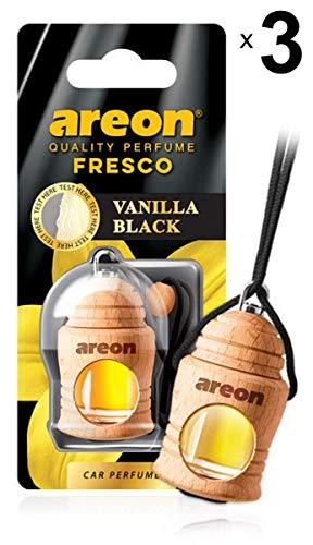 Areon Fresco Ambientador Vainilla Negra Coche Perfume Casa Olor Liquid