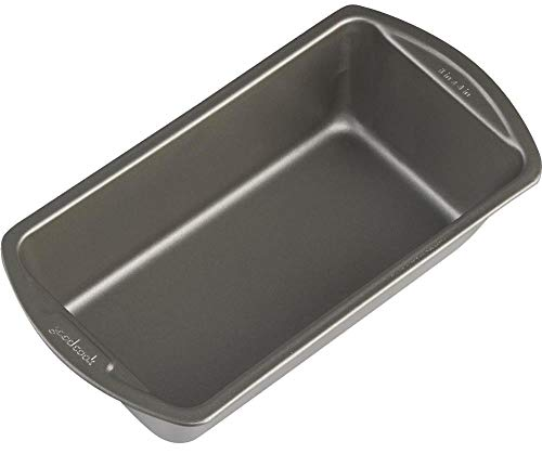 Good Cook 04025 4025 Loaf Pan, 8 x 4 Inch, Grey(3-pack)
