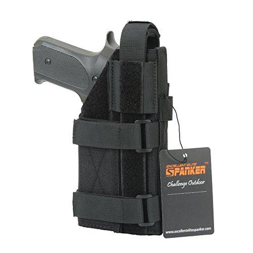 Price comparison product image EXCELLENT ELITE SPANKER Pistol Holster Universal Adjustable for M1911 G17 G18 G19 G26 G34 Glock XD-45acp CZ P-10C(Black)