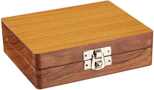 United Scientific WSB025 Wooden Slide Storage Box, Holds 25 Slides