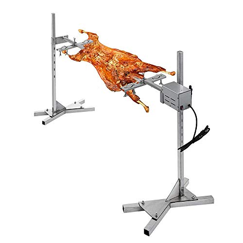 YUEWO Kit Girarrosto Campingaz,Universale Girarrosto per Barbecue,Spiedo Girevole per Grigliare,15W Motore in Acciaio Inox Set di Girarrosto Max 70kg