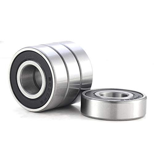 4 Pack 6000-2RS Ball Bearing, Double Rubber Seal Bearings Pre-Lubricated Ball Bearing 10x26x8mm Widely Used in Axial Fans, Motors, Drive Axles, Clutch, Bike and Many Other Industrial Applications.
