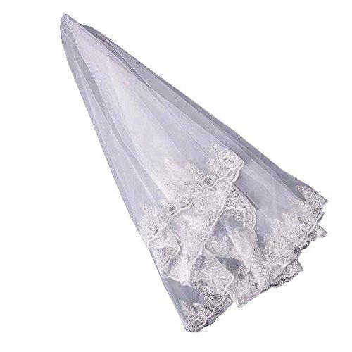 Voile de mariée nuptiale de Fleuret simple de 1.5M, blanc ivoire