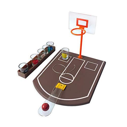 Greatideal Mini-Tisch-Basketball-Trinkspiel Mini-Basketball-Spiel Mini-Basketball-Schießspiel Spielzeug für Bar-Spaß-Trinkspiel