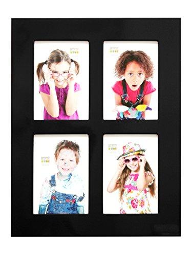 Deknudt Frames S66WK2 fotolijsten 13x18 hoogglans zwart, voor 4 foto's houten fotolijst