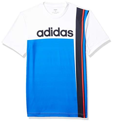 adidas Men's Color Block Tee White/Black Large