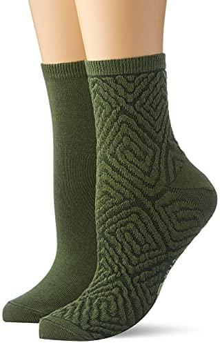 Camel Active Womenswear Damen 3002525A52 Socken, Grün, 39-42