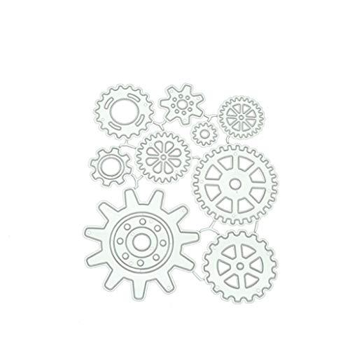 ENDUL Zahnrad Metallschneidwerkzeuge DIY Scrapbooking Papierstempel Stempel Dekor