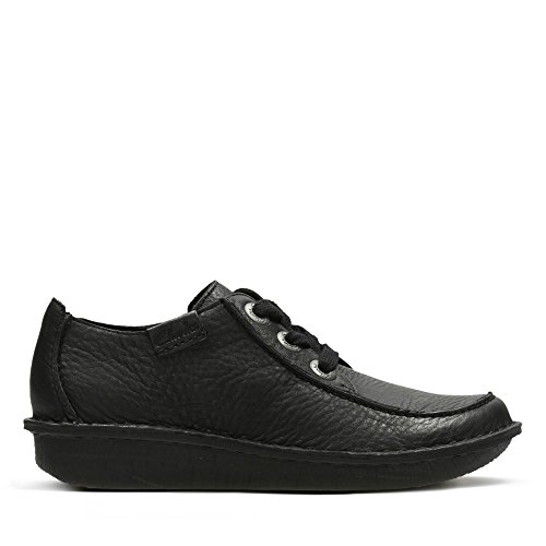Clarks Damen Funny Dream Derby, Schwarz (Black Leather), 39 EU