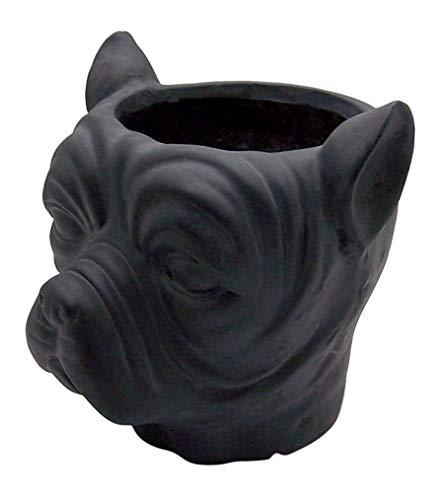 French Bulldog Head Flower Pot Planter, Garden Décor, 11 Inches