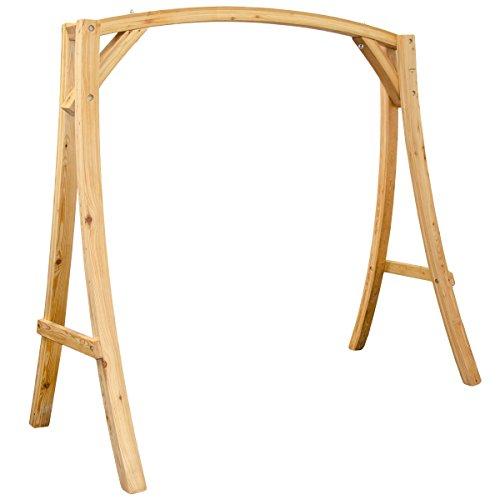 Holzgestell Gestell für Hollywoodschaukel aus Holz Lärche T/B/H ca. 205x105x198 cm für Innen und Außen