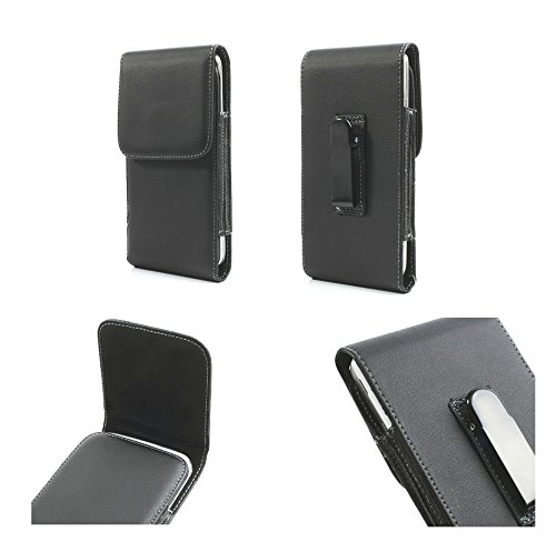 DFV mobile - Funda Cinturon con Clip metalico Vertical Piel Sintetica Premium...