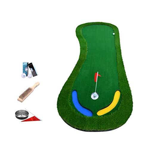 Putting Green de Golf, Golf Putting Calchotenas Patio Trasero, Golpear Hierba Mat Práctica/Chipping 6 Bolas, Hierba Alta, la Forma del pie, fácil de Llevar (Color : Mat)
