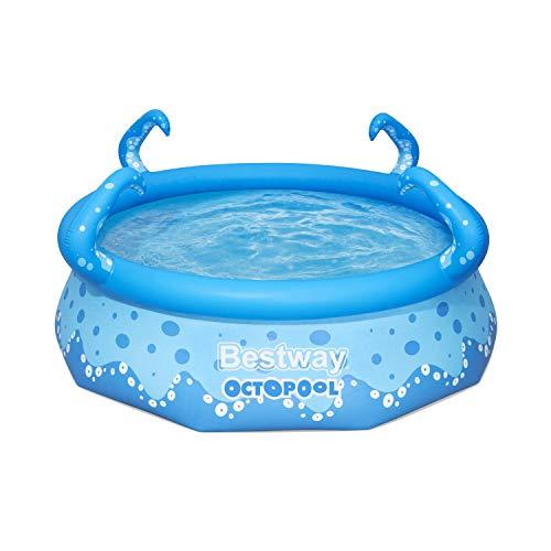 Bestway OktoPool für Kinder, Planschbecken mit aufblasbarem Luftring, 274 x 76 cm Piscina, Azul