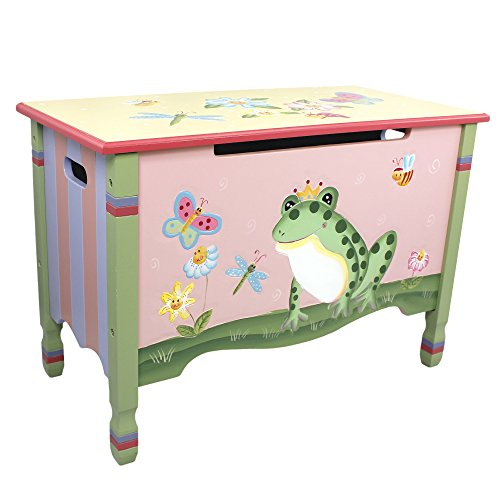 Fantasy Fields - Magic Garden Thematic Kids Wooden Toy Chest with Safety Hinges   Imagination Inspiring Hand Crafted & Hand Painted Details Non-Toxic, Lead Free Water-based Paint