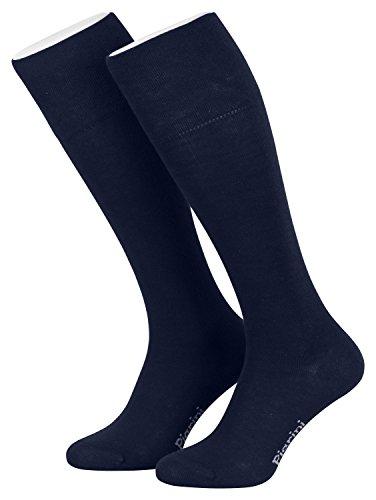 Piarini - 4 pares de calcetines largos para mujer - Azul marino - 39-42
