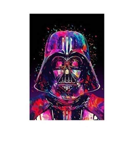LDTSWES Rompecabezas de Madera Abstracto de Star Wars, Rompecabezas de Bricolaje de 1000 Piezas de Superficie Plana, para niños Adultos Juegos de Ocio Juguetes Rompecabezas sin Marco