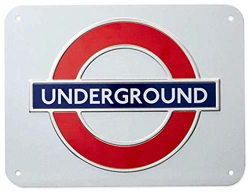 GWC London Underground Schild, Metallisch, mittelgroß
