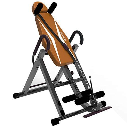 WJSWHW Inversion Tisch Multifunktions-Inversion Bank für Rückentraining Klimmzugstange klappbar Schwerkrafttrainer Vollvertikal Umdrehung bis 180°