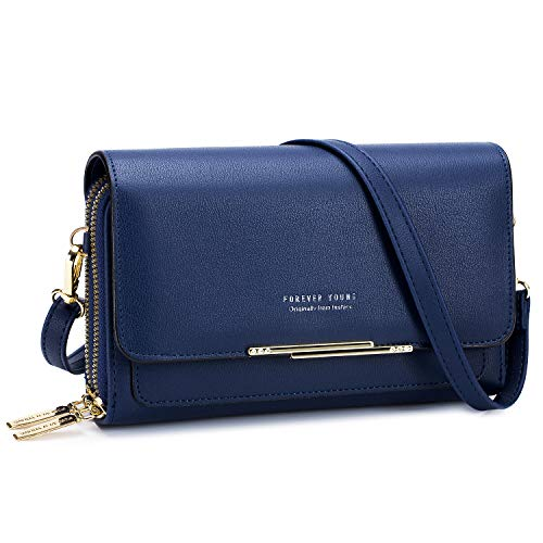 Roulens Small Crossbody Bag for Women,Shoulder Handbags Clutch Cellphone Wallet Purse with Credit Card Slots