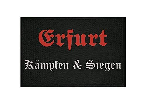 U24 Aufnäher Erfurt Kämpfen & Siegen Fahne Flagge Aufbügler Patch 9 x 6 cm