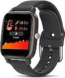 QHG Seguimiento de la Actividad de Salud Tracker Monitor de Ritmo cardíaco Presión Arterial Fitness Tracker Sport Smart Watch para Android & iOS (Color : Black)