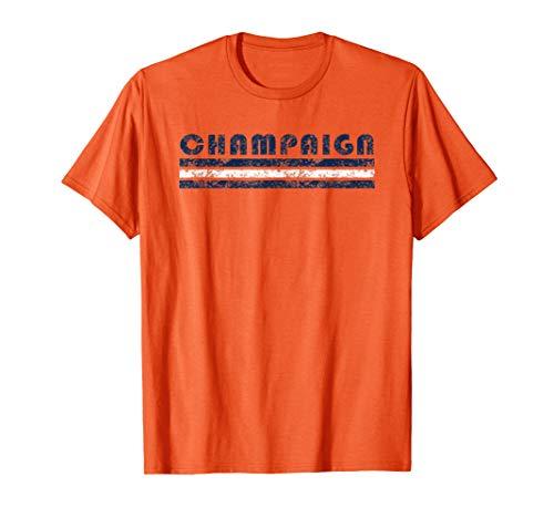Champaign Illinois Retro Vintage Caps T-Shirt
