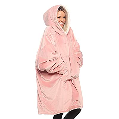 THE COMFY Original  Oversized Microfiber & Sherpa Wearable Blanket, Seen On Shark Tank, One Size Fits All from The Comfy