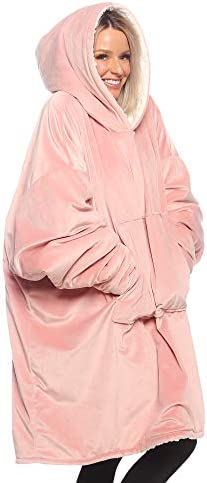 THE COMFY Original Oversized Microfiber Sherpa Wearable Blanket Seen On Shark Tank One Size product image