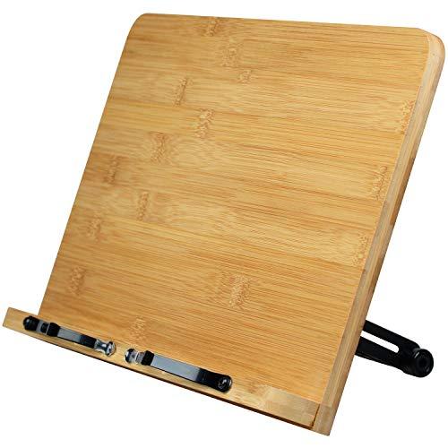 L.Y.F LAB ブックスタンド 【角度9段階調整】 書見台 読書台 本立て 勉強 木製 竹製 選べる3サイズ (28×20cm)