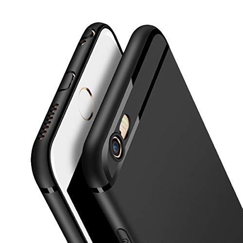 Three-Tree Hülle Kompatibel mit iPhone 6 / iPhone 6s, Black Ultra Dünn Anti-Fingerabdruck Handyhülle, Anti-Kratz Schutzhülle Rückseite Soft TPU Hülle für iPhone 6/6s - Schwarz