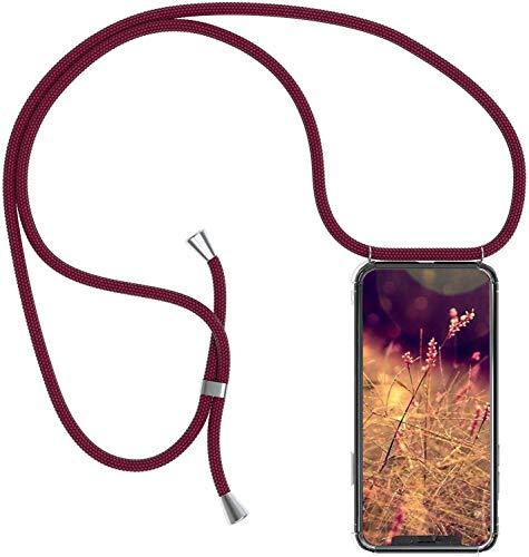 Jinghuash Compatibel met Huawei Y7 2019 hoes met band rood
