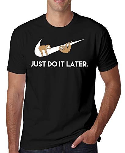 Just Do It Later Sloths Herren T-Shirt Large