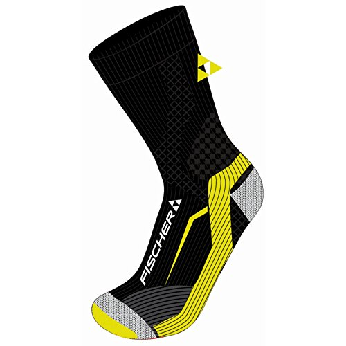 Fischer Sports Herren Nordic Skating Skisocken, Black/Yellow, 39