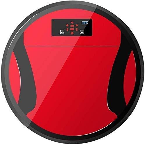 Cleaning Robot Smart Stofzuiger Volautomatische vegen Robot de vloer vegen dweilen Machine Reiniging Stofzuiger, (Kleur: Rood) zhihao (Color : Red)