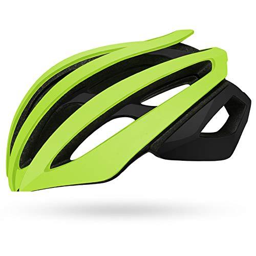 WWJJE 2020 Nuevo Casco de Bicicleta, Casco de Bicicleta de Carreras Ultraligero Hombres Mujeres Seguridad Deportiva MTB Mountain Road Riding Cycling Helmet M/L-Green-L