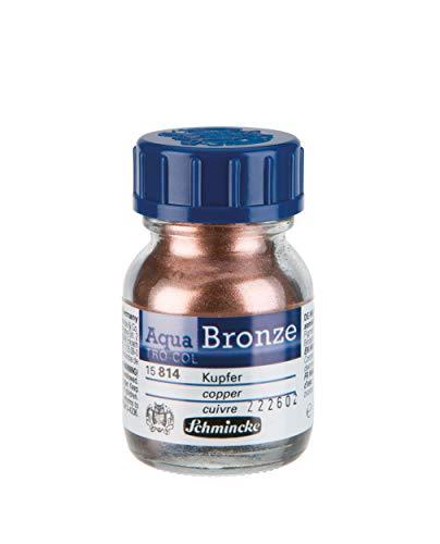 Schmincke - Aqua-Bronze, Kupfer, 20 ml, 15 814 032, glänzende Metalleffekte auf Gouache- und Aquarellbildern, Papier, Karton, Malpappe, Leinwand