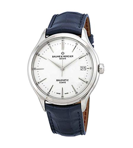 Baume et Mercier Clifton Baumatic Automatic White Dial Men's Watch 10398