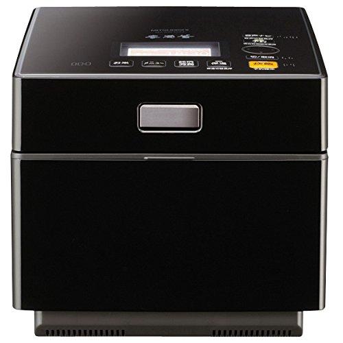 三菱 IHジャー炊飯器(5.5合炊き) ピアノブラックMITSUBISHI 蒸気レスIH 本炭釜 NJ-XW104J-K
