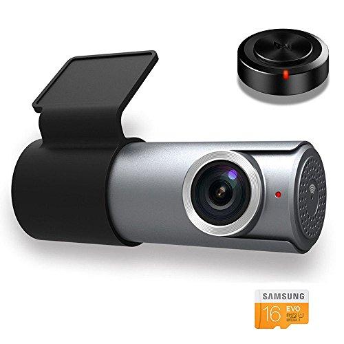 Goluk T1 Wifi FHD 1080P Mini Car Dash Cam Recorder, with 16G TF Card, Motion Detection, Parking Monito