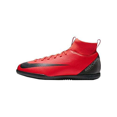 Nike Jr Superfly 6 Club Cr7 IC, Zapatillas de fútbol Sala Unisex niño, Multicolor (Bright Crimson/Black-Chrome 600), 36 EU