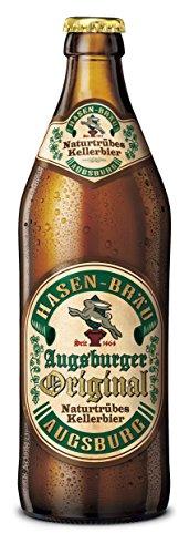 20 Flaschen Orginal Augsburger Hasen-Bräu Naturtrübes Keller Bier Hasen Bräu inc. 1.60€ MEHRWEG Pfand