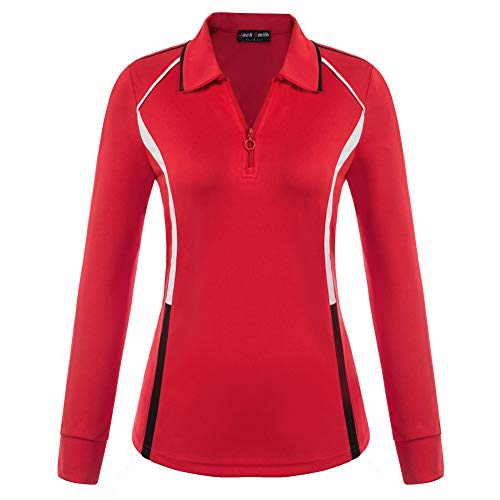 Polo Rouge Femme Sport Golf Tennis Yoga Running Casual...