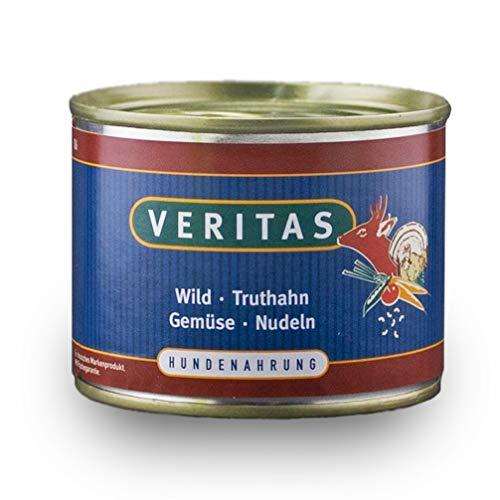 veritas Hundemenü Hundefutter nass – Gourmet Sorte Wild Truthan Gemüse Nudeln - Nassfutter für Erwachsene Hunde I Hundenassfutter (1x 200g)