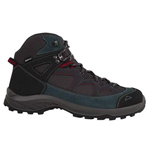 McKINLEY Herren Explorer Mid AQX Mountainbiking-Schuh, Antracite/Blue Dark, 45 EU