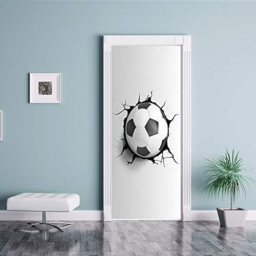 DOORWP 3D Kreative Basketball Aufkleber Auf Den Türen Tapete Wandbild PVC Wohnkultur Fußball Selbstklebende Entfernbare Wand Tür Aufkleber