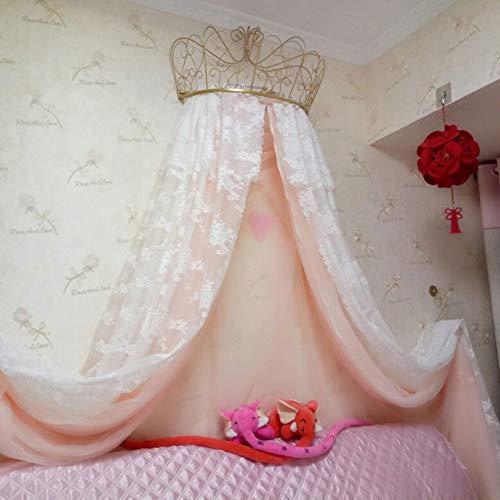 HOMEJYMADE Corona la cúpula mosquitera,Doseles de Cama de la Princesa Niños casa Princesa la Tienda del Juego de Estrellas Brillantes Caliente EN Instagram-E 47inch