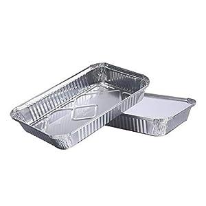 LYB Plateau en aluminium jetable alimentaire en aluminium recyclable pour ustensiles de barbecue (couleur : 01)