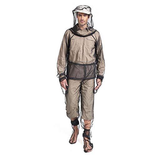Anti-Mosquito Suit Bee Proof avventura Vestiti con pantaloni manica della giacca mano per Camping in bicicletta Pesca Escursionismo nero L/XL pesca 4PCSHigh qualità vestiti pesca clothesHigh qualità
