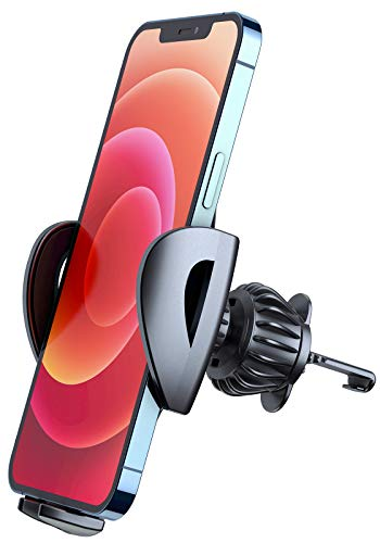 Phone Car Holder, DracoLight Car phone Holder Mount, Universal Cell phone Holder Clip Mount Cradle for Car Air Vent Compatible vehicle Compatible with iphone 12 pro max/Samsung Galaxy Z Fold3 5G/Pixel